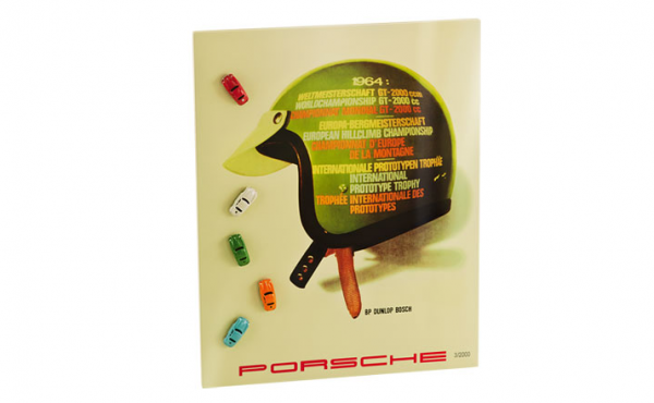 Painted metal board and 5 porsche magnets from Porsche Design Driver's Selection