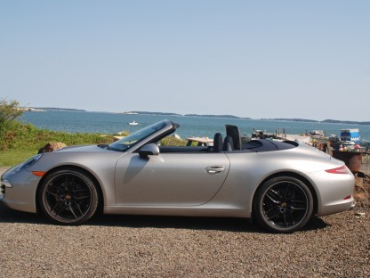 View From the Passenger Seat.  My First Ride in the 2012 Porsche 911 Carrera S Cabriolet