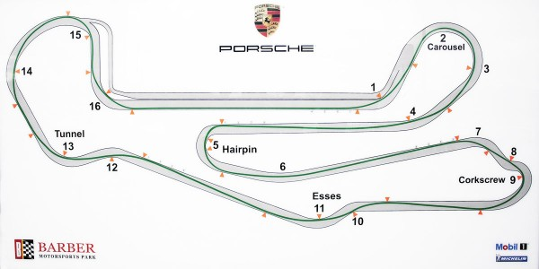 Barber Motorsport Track Map