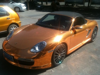 Copper and Crystal Plated Porsche Boxster