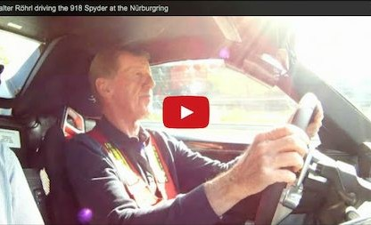 Walter Röhrl Compares the Porsche 918 Spyder to the Carrera GT [Video]
