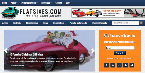FlatSixes.com Screen shot