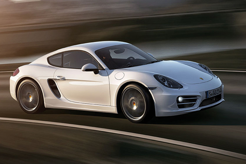 White 2012 Porsche Cayman side profile