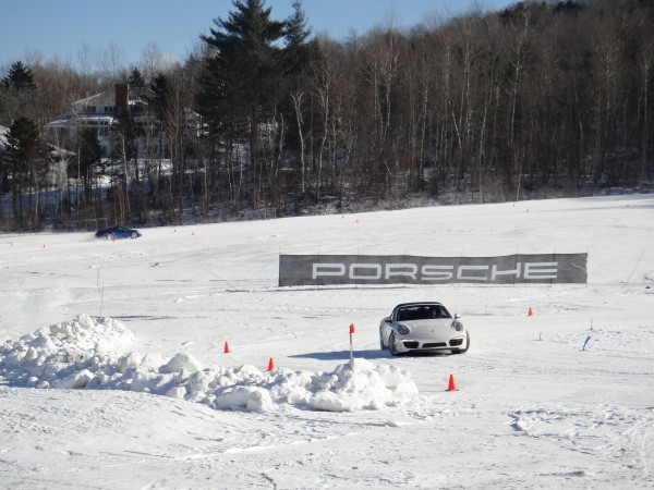 the course at Sugarbush Resort for the 2013 Porsche Winter Driving Experience