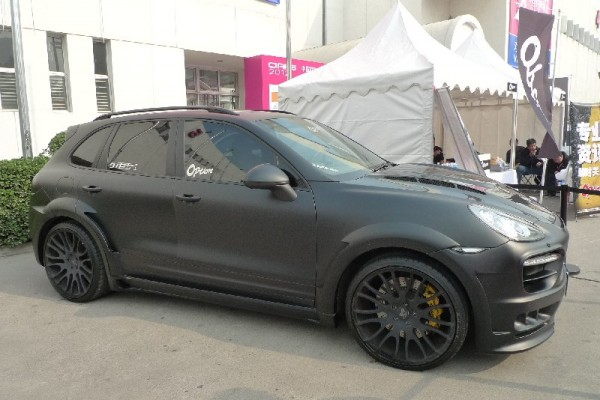 Black Hamann Porsche Cayenne in China