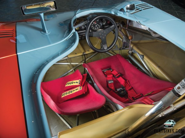 Interior of Porsche 908/3 chassis# 004