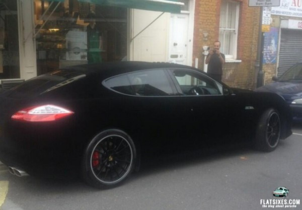 black velvet wrapped porsche