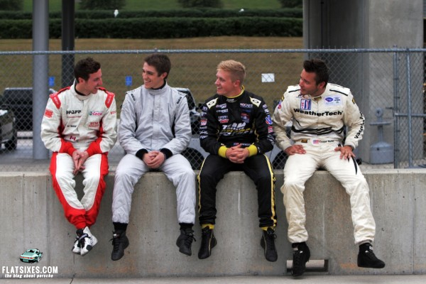 Sean Johnston (2012 IMSA GT3 Cup Challenge champion), Cooper MacNeil (2012 ALMS GT Challenge champion), Kyle Marcelli (2012 IMSA GT3 Cup Canada – most wins), and Spencer Pigot (2012 USF2000 series – most wins) were chosen to participate based on their exceptional 2012 racing seasons.