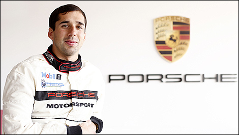 Neel Jani Driving for Porsche