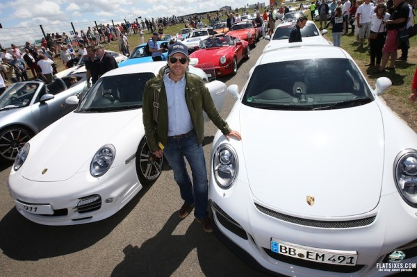 Mark Porsche drove one of the lead cars, the original designed by his father