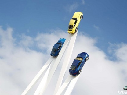 Porsche Sculpture at Goodwood Festival of Speed Defies Gravity