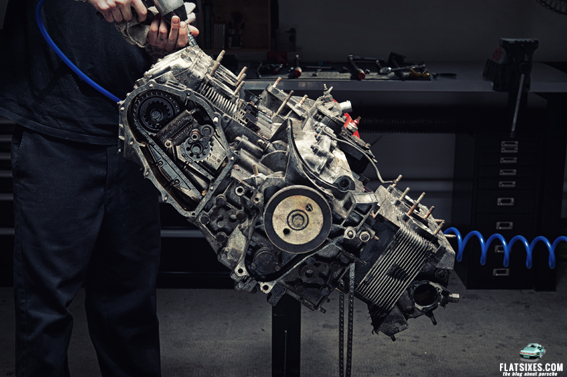 making of stop motion porsche engine tear-down video