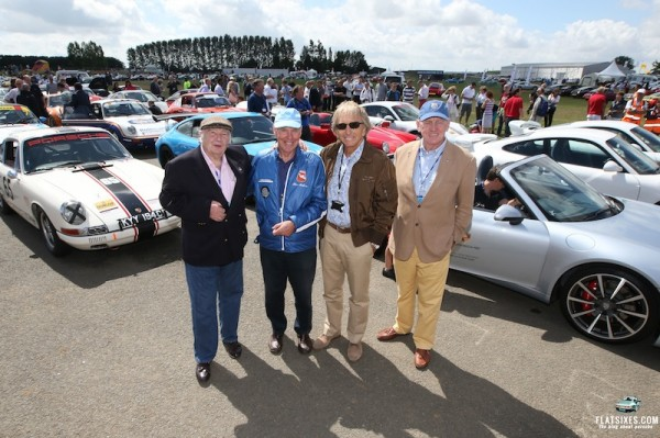 Legendary Porsche racing drivers David Piper, Richard Attwood, Derek Bell and John Fitzpatrick all drove in the parade