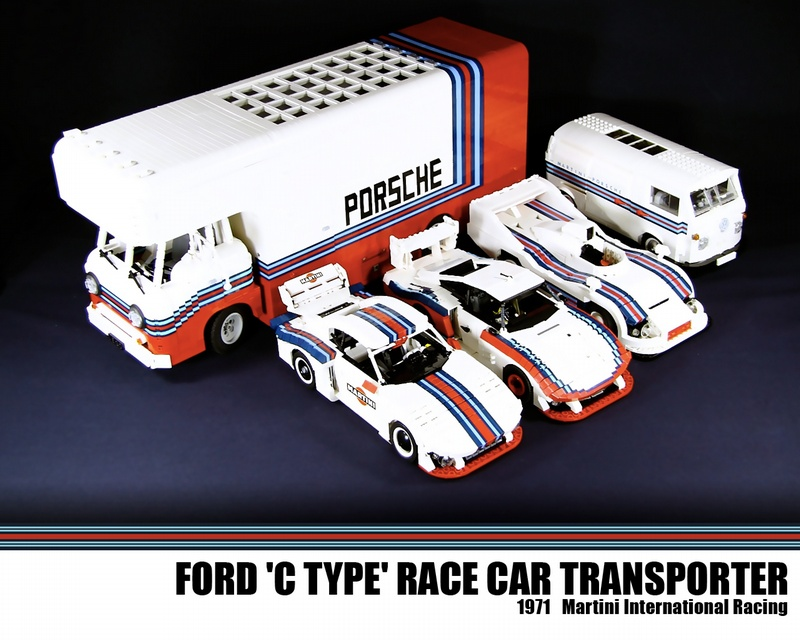 Lego Porsche Martini Race Set And Transporter
