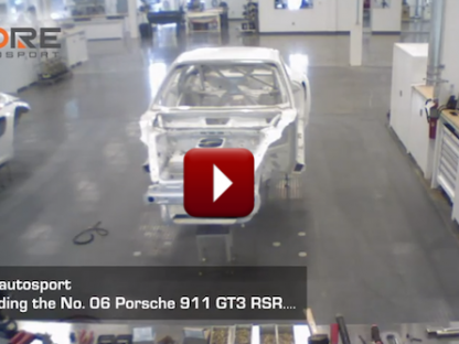 porsche race car built in timelapse video