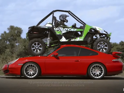 Is Arctic Cat's Porsche Crushing Marketing Stunt Backfiring?