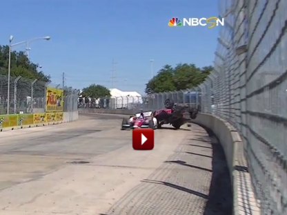 Dario Franchitti IndyCar Crash Houston