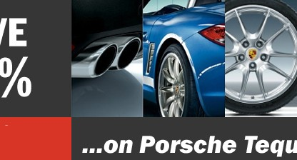 15% Discount on Driver's Selection Merchandise and Porsche Tequipment Accessories