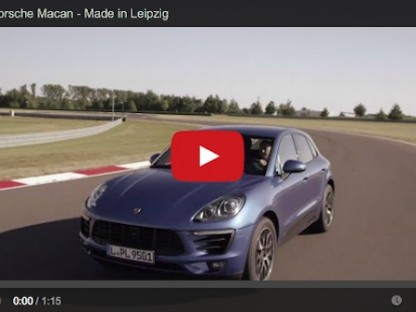 porsche macan on the track