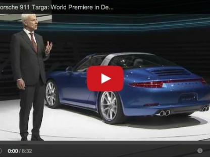 Video of the world premier of the 2014 Porsche 911 Targa