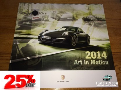 Exclusive 25% Discount Offer On The 2014 Porsche Calendar with Collector Coin