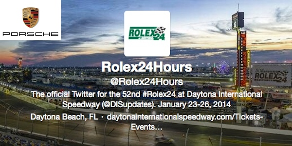 Porsche twitter guide rolex 24 at daytona