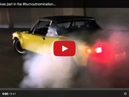 Watch Jeff Zwart As He Does A Burnout In His Porsche 914-6 For #burnoutnomination
