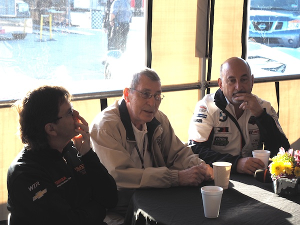 Vic Elford with Bobby Rahal and Wayne Taylor