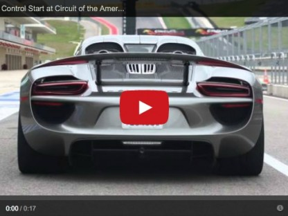 This Is What Launch Control In The Porsche 918 Spyder Looks And Sounds Like