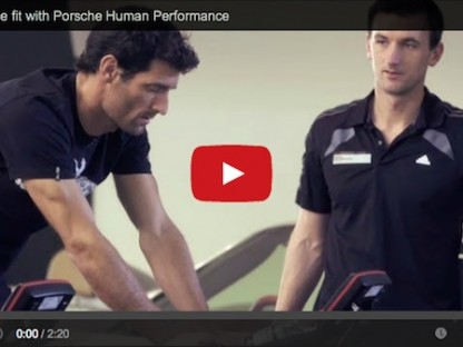 Mark Webber at the Porsche Race Fit 2014 event