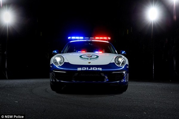 Donated by Porsche Cars Australia, this Porsche police car has a value of nearly $200,000