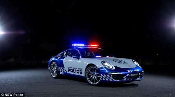 The new 911 Porsche police car will be operated by the Harborside Police force along Sydney's north shore