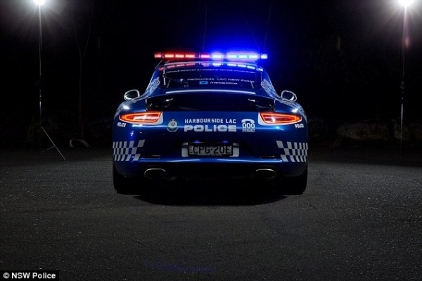 It comes fully equipped with everything you would expect in a normal police car including the low profile lights and siren