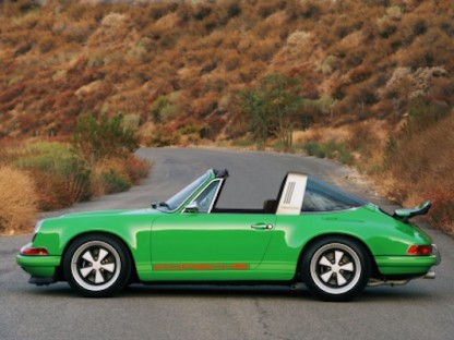 rendering of a Porsche Targa 911 Reimagnined by Singer