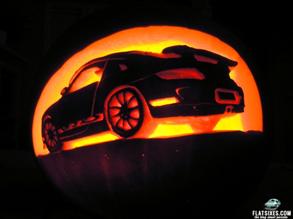 Porsche GT3 Pumpkin Carving