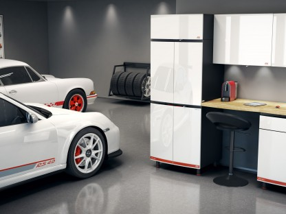 This New RS Inspired Cabinetry Will Look Perfect In The Garage Next To Your Porsche