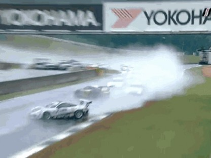 It Rained Before The GT3 Cup Challenge This Weekend.  What Happens As A Result Is Wild!
