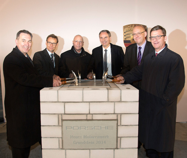 Foundation stone ceremony of the new Porsche engine plant