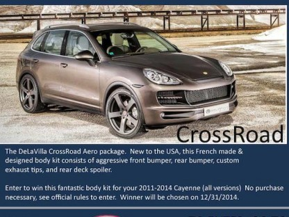 Enter To Win At $10,000 Cayenne CrossRoad Body Kit By DeLaVilla