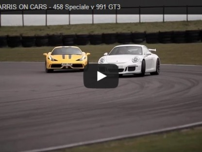 Video: Chris Harris Pits Porsche 991 GT3 Against Ferrari's 458 Speciale