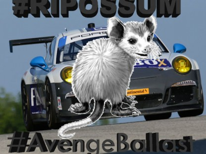 This Is What Happens When Your Porsche Hits A Possum At Daytona