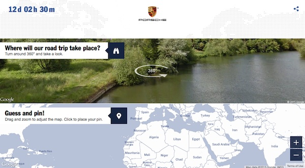 porsche facebook 10 million fan contest map