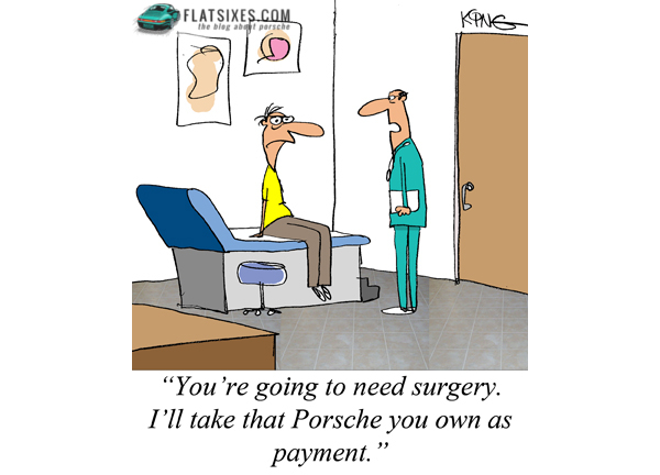 Porsche Comic Strip from FLATSIXES by Jerry King