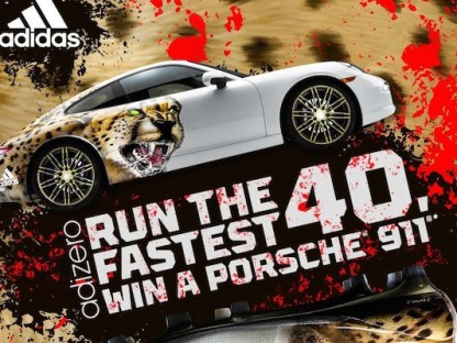 adidas contest awarding a porsche 911 to fastest runners at NFL combine