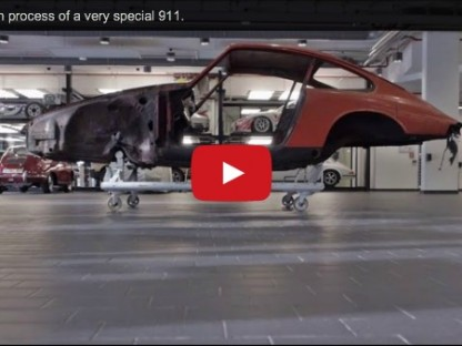 video showcasing the restoration of Porsche 901 chassis 57