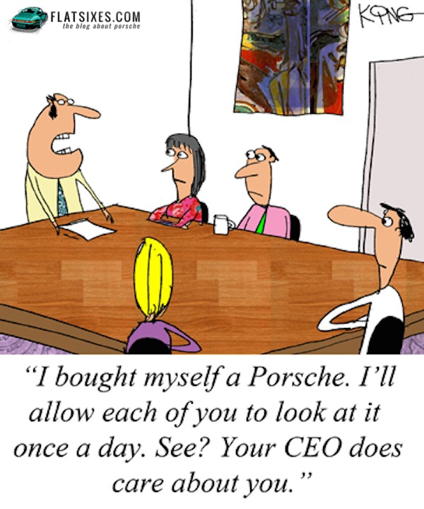 Porsche comic strip for FLATSIXES.com