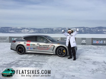 porsche panamera ice speed record lake baikal 2015