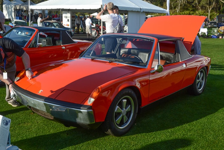 Now here's the ultimate sleeper—a 914 fitted with an all out eight-cylinder 908 engine.  It proved the 914 could handle a lot more power than it was delivered with.