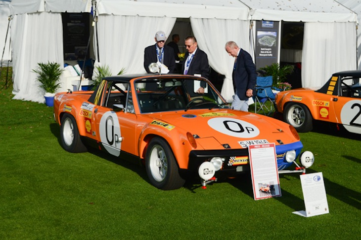 Kevin Jeannette created his fantasy utility truck out of a 914 and painted to match the three 1970 Marathon de la Route winners.