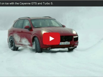 Walter Röhrl driftig cayenne on ice and snow